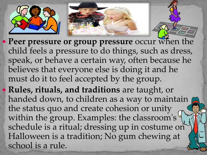 Peer pressure or group pressure