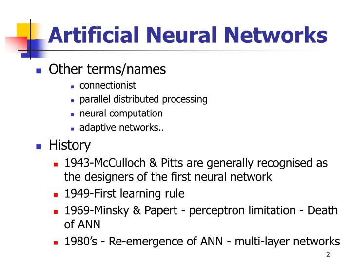 Artificial neural networks1