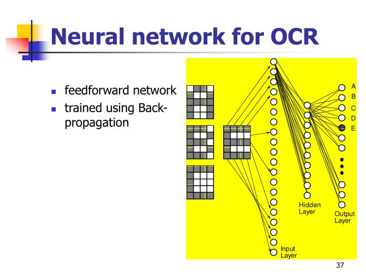 Neural network for OCR