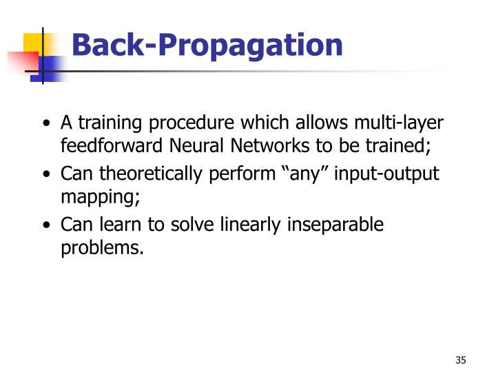Back-Propagation