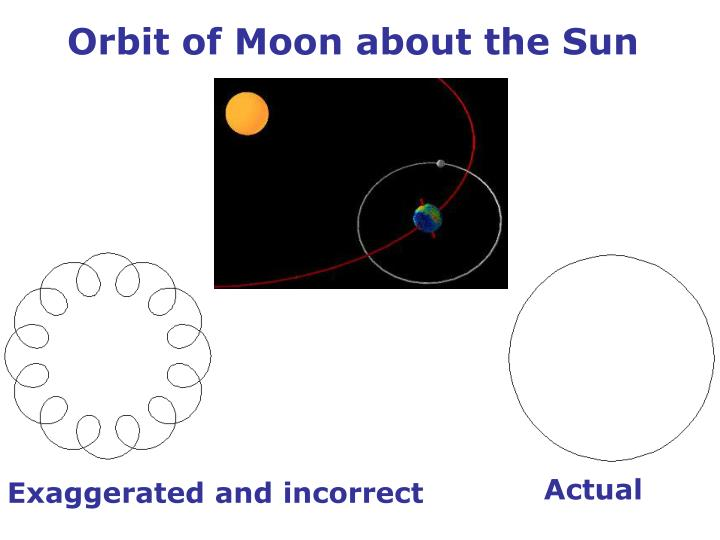 Orbit of Moon about the Sun
