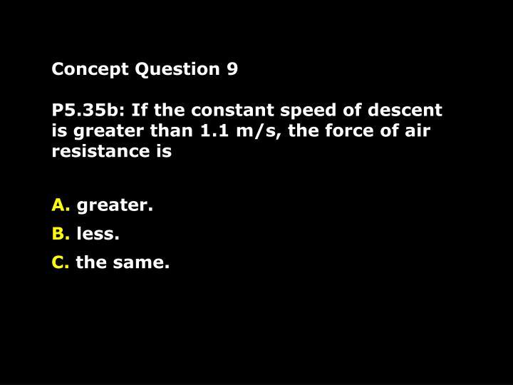 Concept Question 9