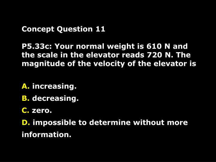 Concept Question 11