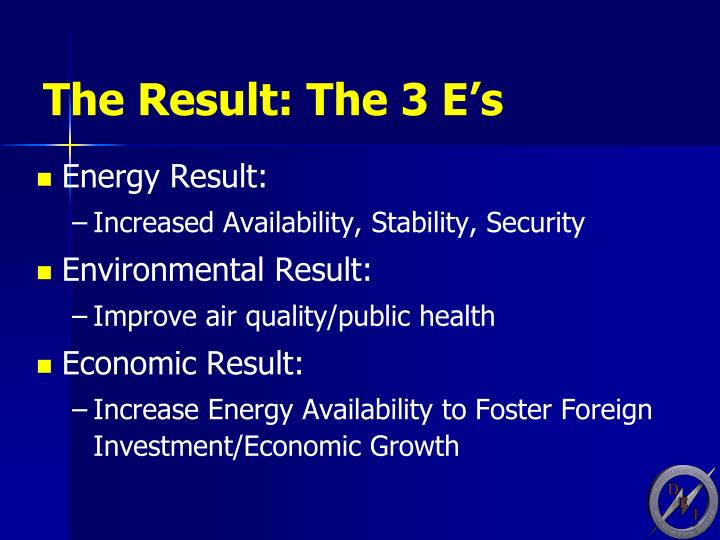 The Result: The 3 E's