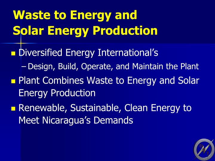 Waste to Energy and