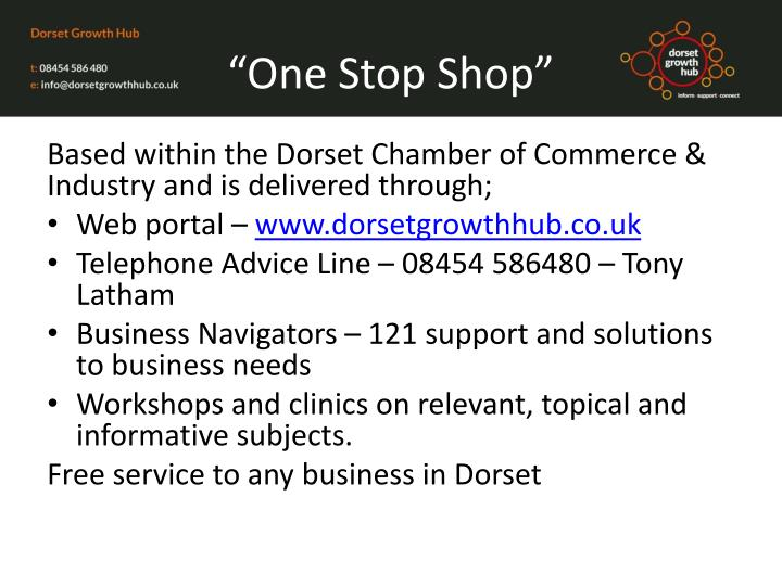 """One Stop Shop"""