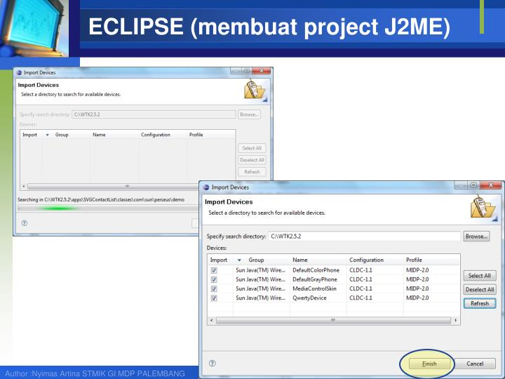 ECLIPSE (membuat project J2ME)