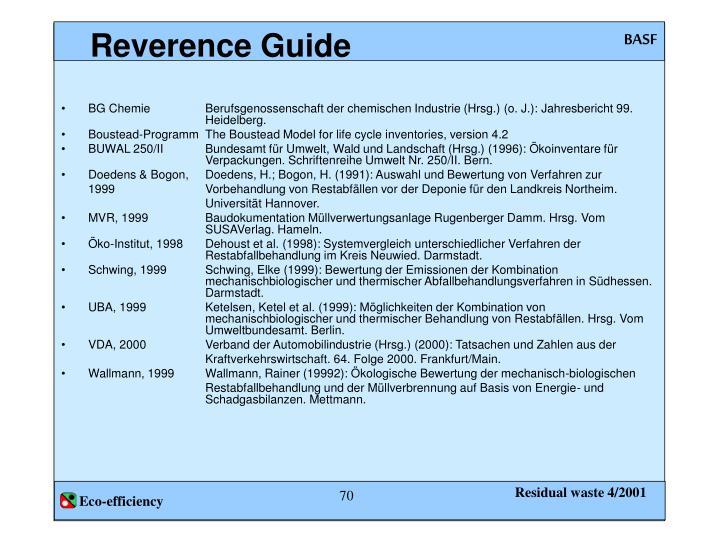 Reverence Guide