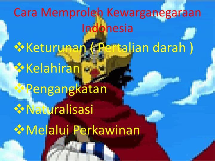 Cara Memproleh Kewarganegaraan Indonesia