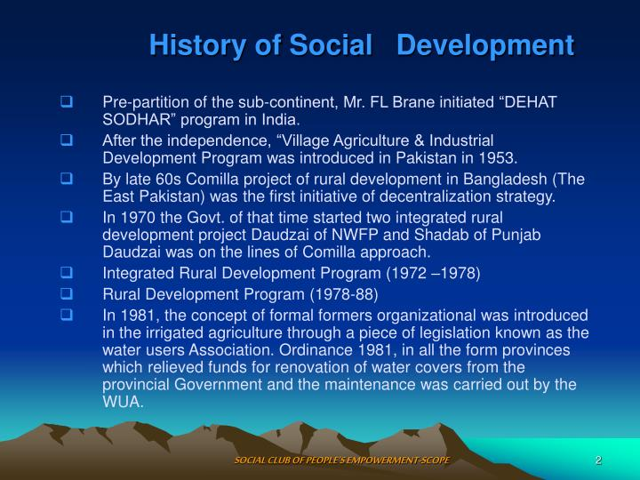 History of social development
