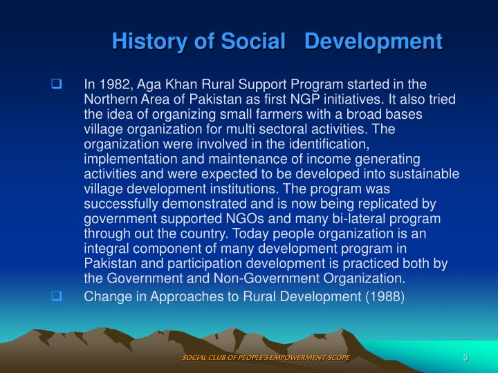 History of social development1