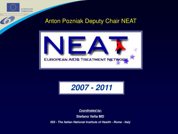 Anton Pozniak Deputy Chair NEAT