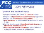 2005 policy goals