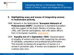integrating women in mainstream policing impact on police culture and response in germany12