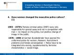 integrating women in mainstream policing impact on police culture and response in germany7