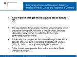 integrating women in mainstream policing impact on police culture and response in germany9