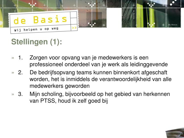 Stellingen (1):