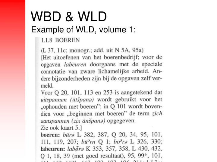 WBD & WLD