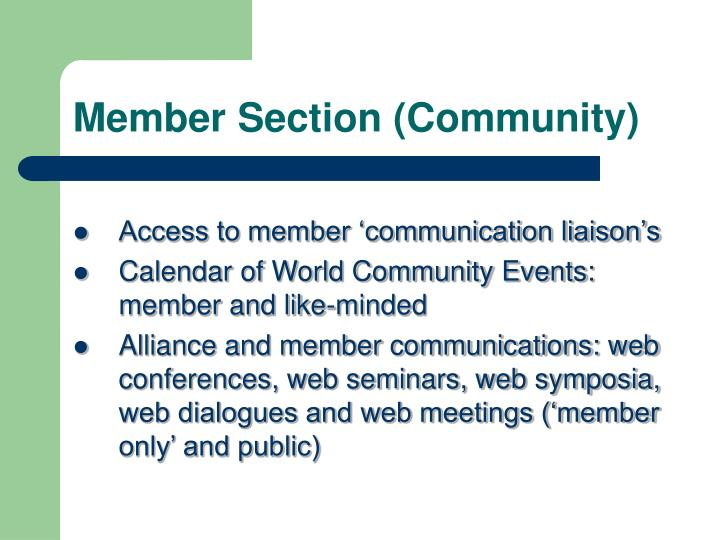 Member Section (Community)