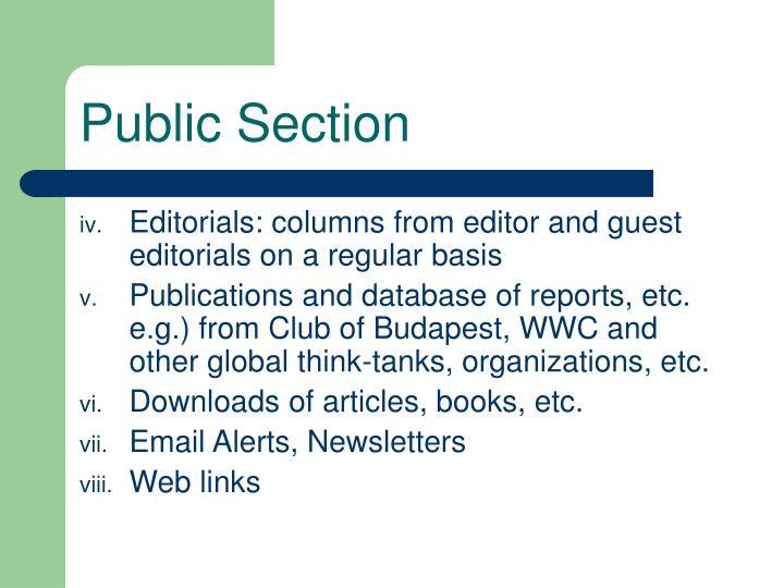 Public Section