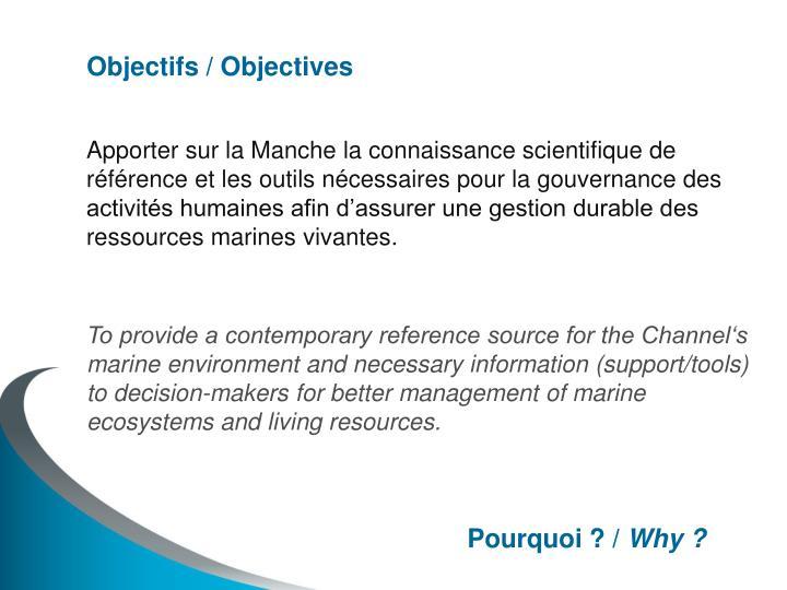 Objectifs / Objectives