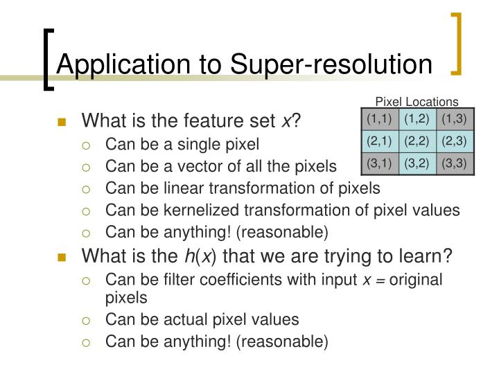 Application to Super-resolution