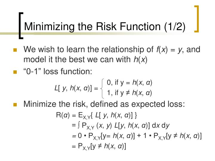 Minimizing the Risk Function (1/2)