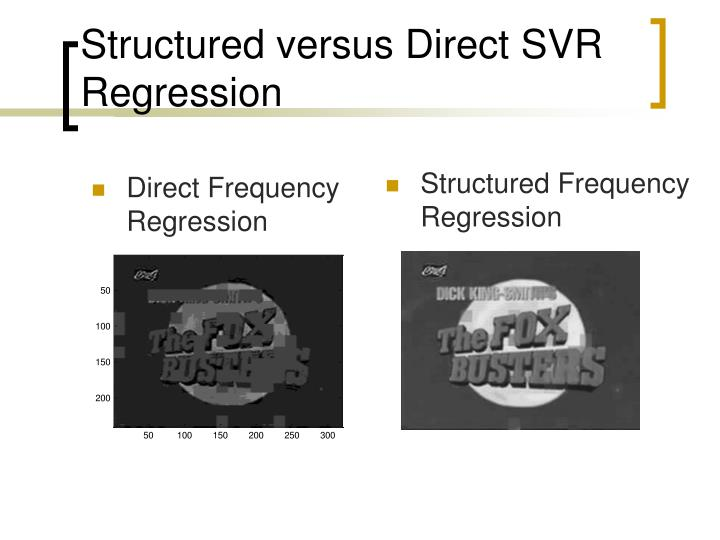 Structured Frequency Regression