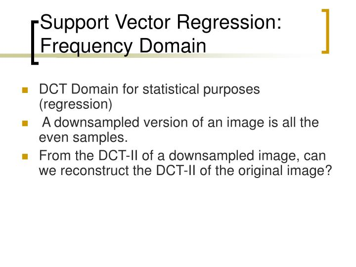 Support Vector Regression: