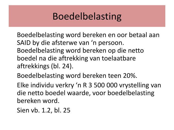 Boedelbelasting