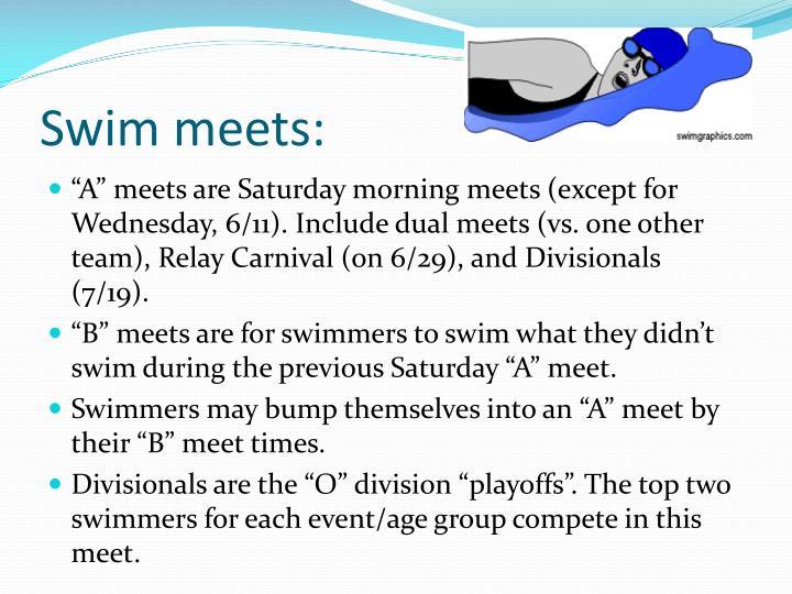 Swim meets: