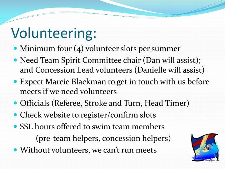 Volunteering: