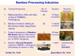 bamboo processing industries