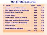 handicrafts industries