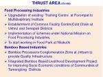 thrust area contd
