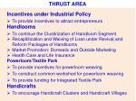 thrust area