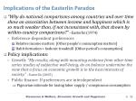 implications of the easterlin paradox