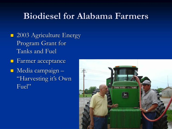 2003 Agriculture Energy Program Grant for Tanks and Fuel