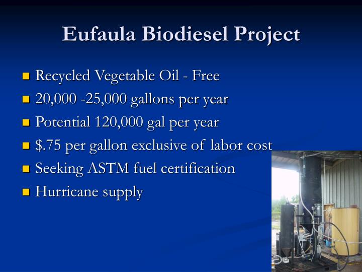 Eufaula Biodiesel Project