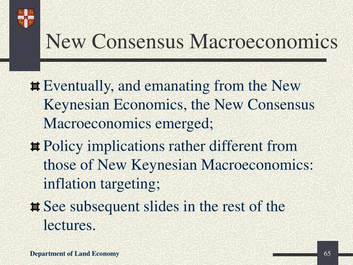 New Consensus Macroeconomics