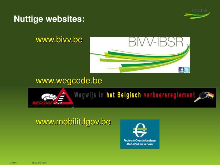 Nuttige websites: