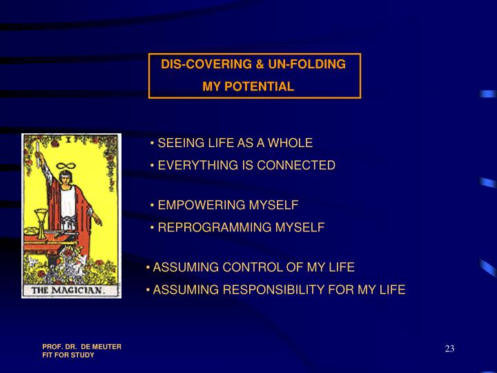DIS-COVERING & UN-FOLDING