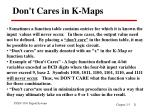 don t cares in k maps