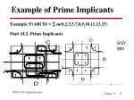 example of prime implicants