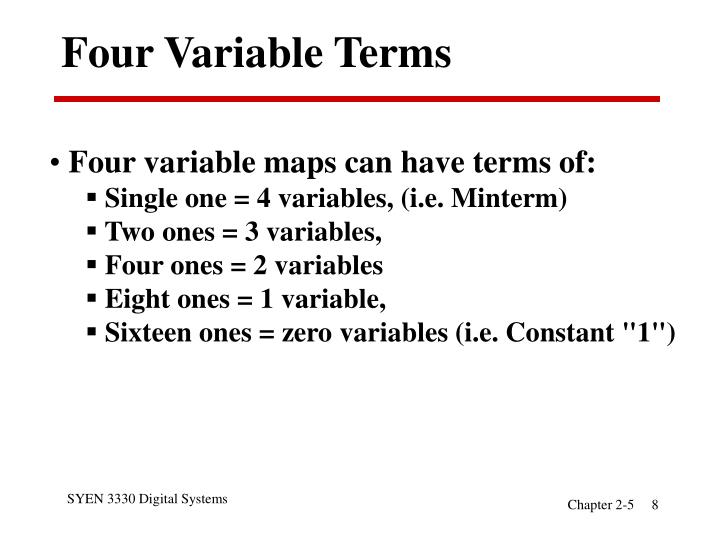 Four Variable Terms