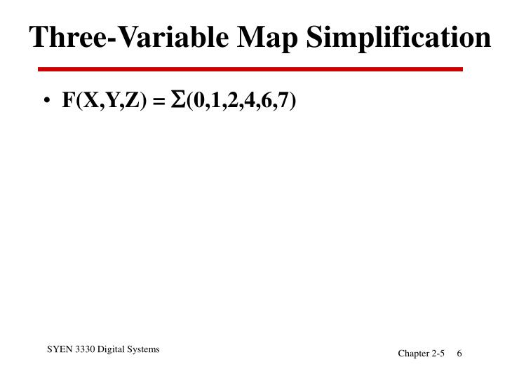 Three-Variable Map Simplification