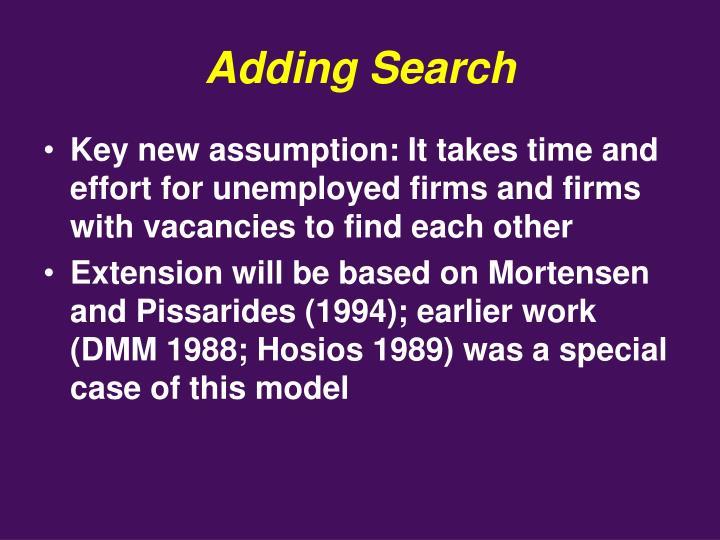 Adding Search