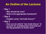 an outline of the lectures