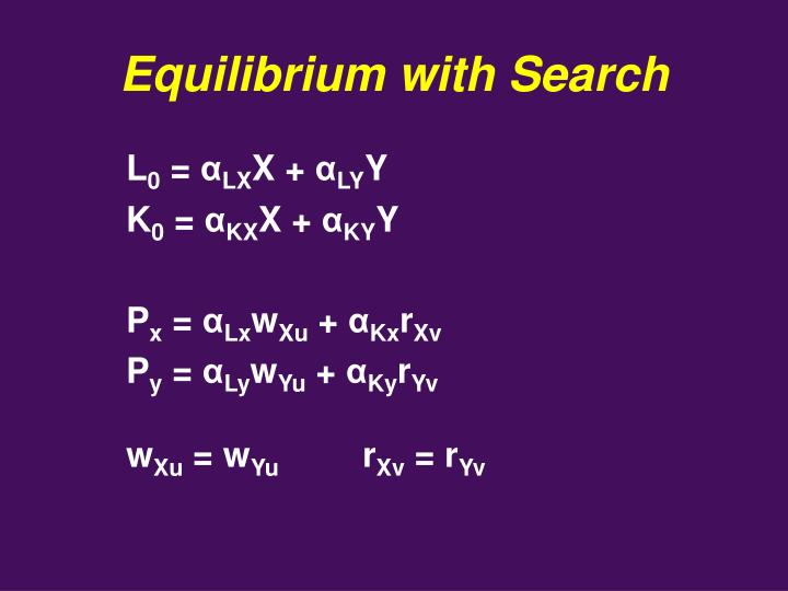 Equilibrium with Search