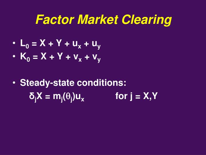 Factor Market Clearing